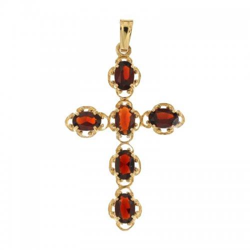 Croce da donna in Oro Giallo e Bianco 803321706660