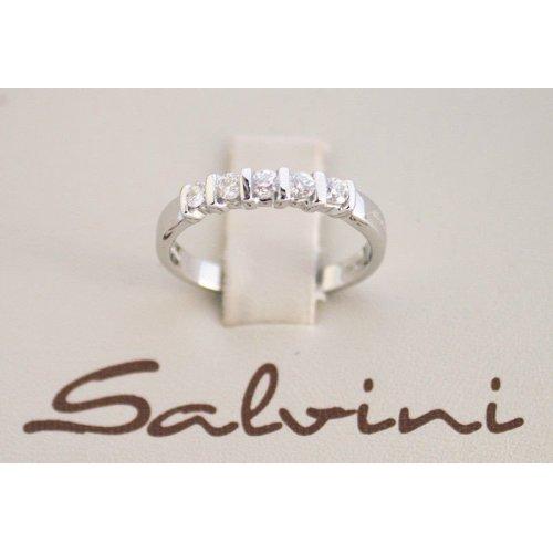 SALVINI Veretta ring in white gold and diamonds Ct 0.30 Ref. 20000995