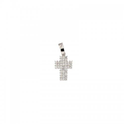 Croce da donna in Oro Bianco 803321725501