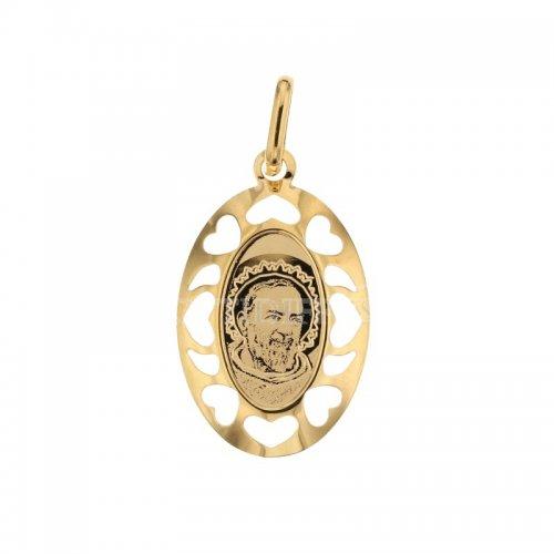 Ciondolo Padre Pio oro giallo 803321707031
