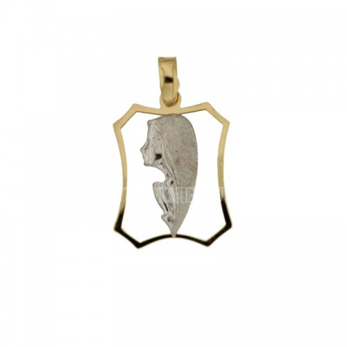 Pendant Madonna yellow and white gold 803321714830