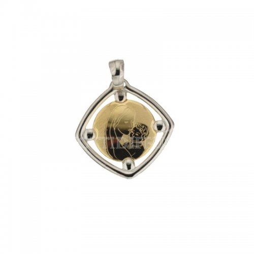 Pendant Madonna yellow and white gold 8803321714897