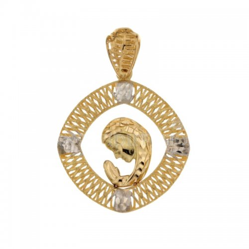 Pendant Madonna yellow and white gold 803321731672