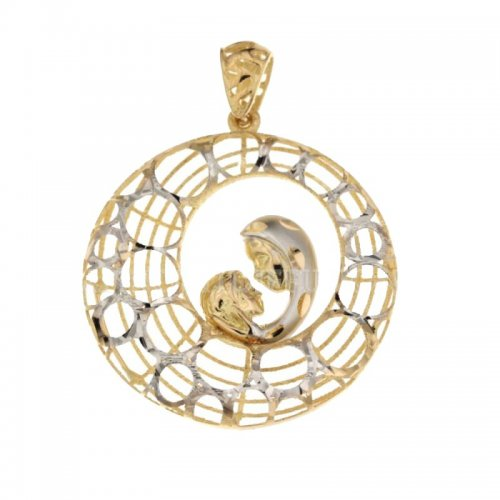 Lady's Pendant with Madonna in yellow and white gold 803321731668