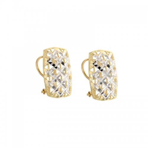 Orecchini Donna in Oro Bianco e Giallo 803321704758