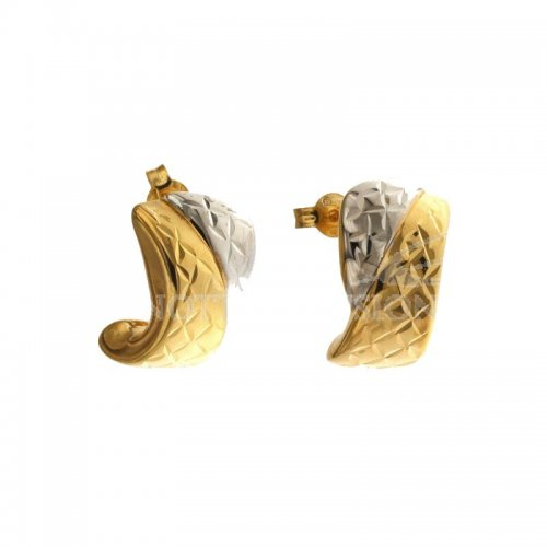 Woman Earrings in White and Yellow Gold 803321733875