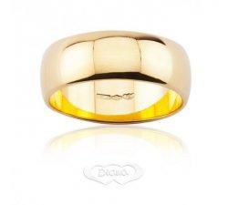 Fede nuziale DIANA Mantovana Oro giallo 7 mm