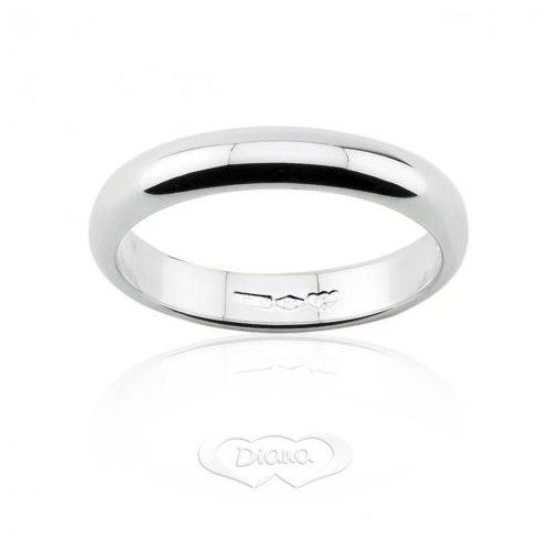DIANA Wedding Ring 5 grams White Gold Classic Narrow Band