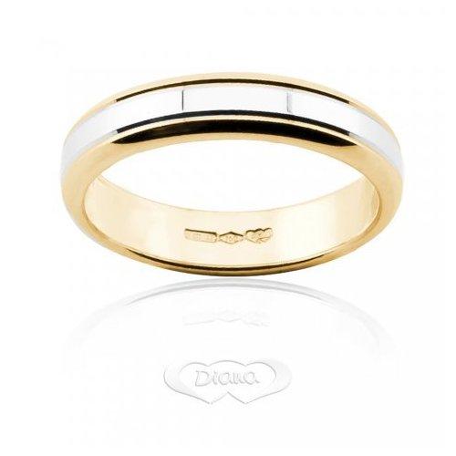 Diana Wedding Ring White and Yellow Gold FDB2 BC