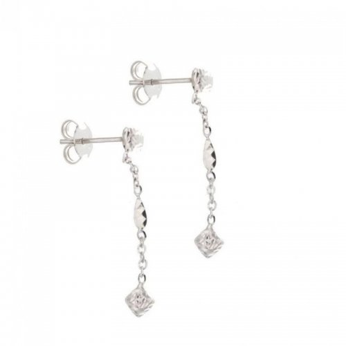 Women's Long Earrings in White Gold 803321713091