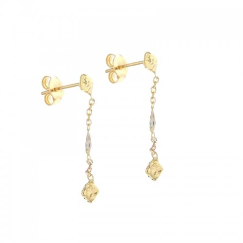Orecchini Lunghi Donna in Oro Bianco e Giallo 803321724322