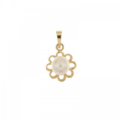 Yellow gold pendant with pearl 803321705512
