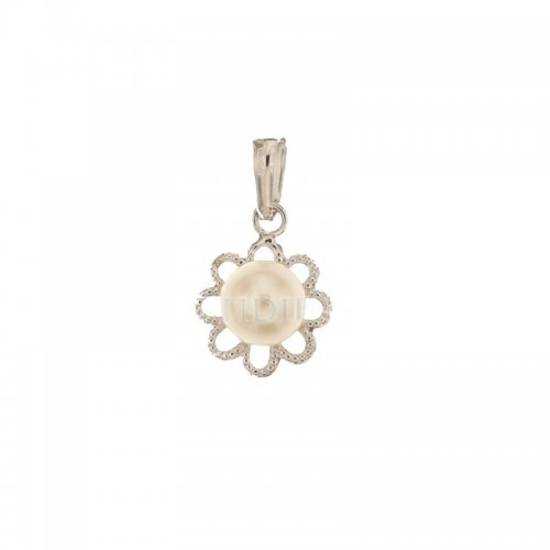 White gold pendant with pearl 803321705513