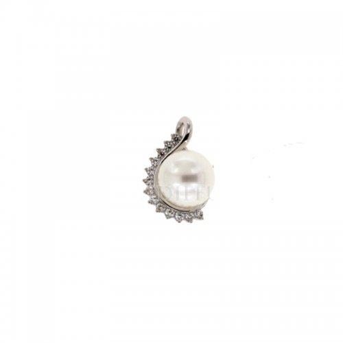 Ciondolo oro bianco con perla 803321712766