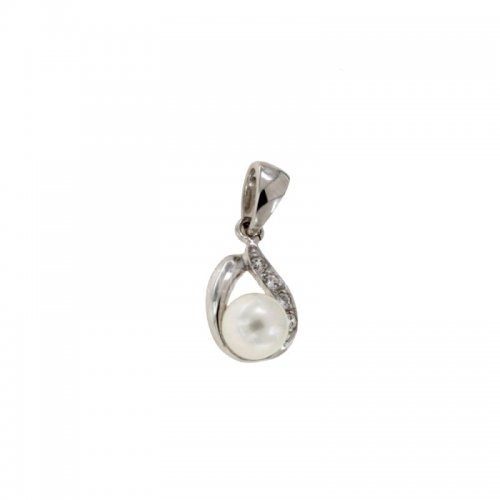 White gold pendant with pearl 803321724918