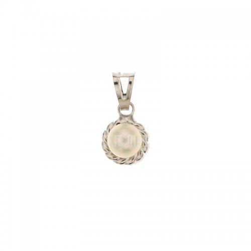 Ciondolo oro bianco con perla 803321734332