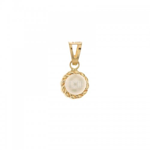 Yellow gold pendant with pearl 803321734331