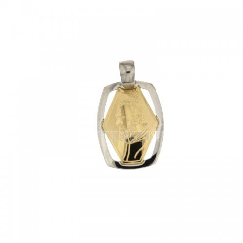 Padre Pio Pendant Yellow and White Gold 803321708436
