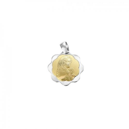 Pendant Madonna yellow and white gold 803321714881