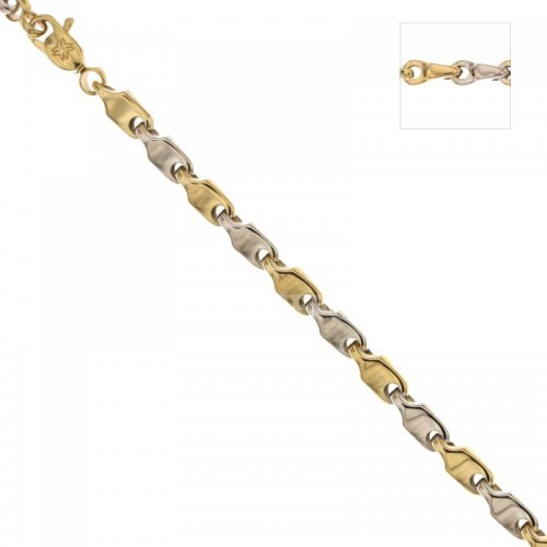 Men's Bracelet in Yellow and White Gold 803321734696