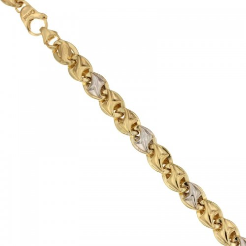 Men's Bracelet in Yellow and White Gold 803321732391