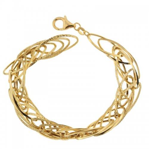 Yellow gold women's bracelet 803321719452