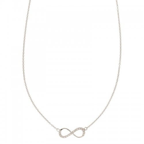 Necklace with Infinity Woman in White Gold 803321712755