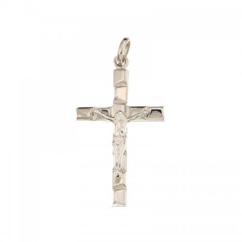 White Gold Men's Cross 803321714351