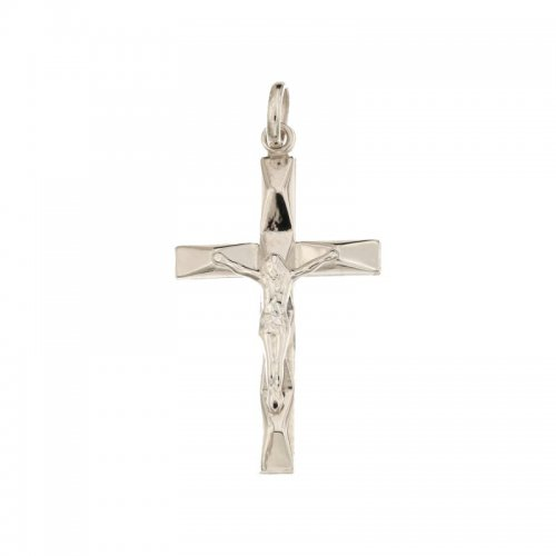 Croce da uomo in Oro Bianco 803321714356