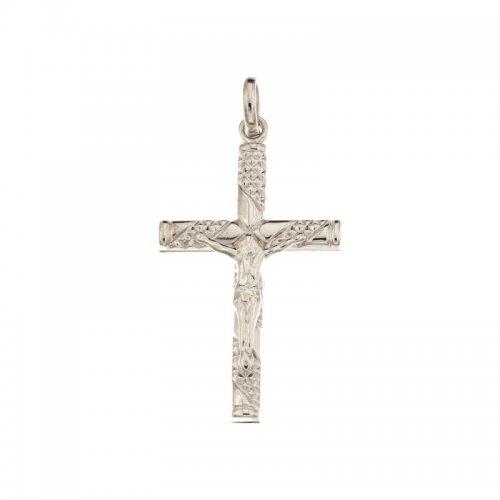 White Gold Men's Cross 803321714350