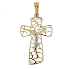 Women's Cross in Yellow and White Gold 803321714303