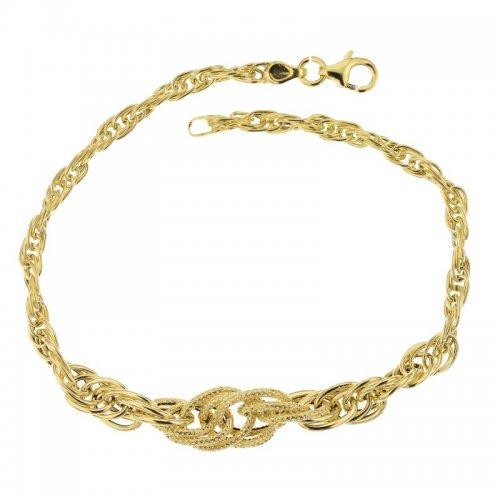 Yellow gold women's bracelet 803321729082