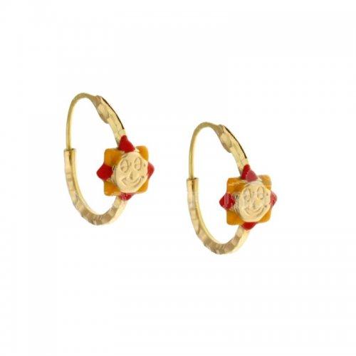 Sun girl earrings in Yellow Gold 803321716803