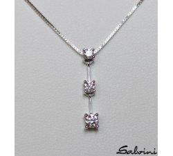 Collana Pendente SALVINI in Oro bianco e diamanti 20016842 Ct 0,29 Ref.20016842