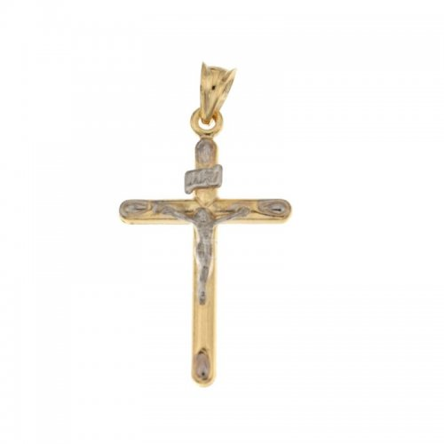 Cross in Yellow and White Gold 803321728410