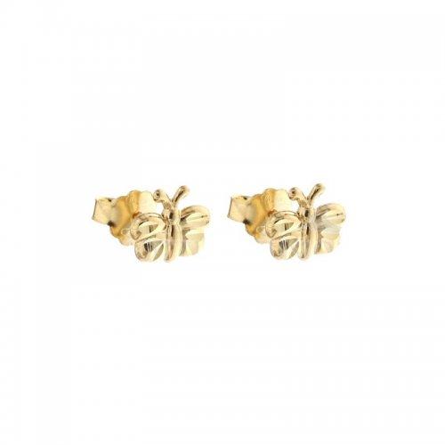 Orecchini Donna in Oro Giallo Farfalla 803321715550