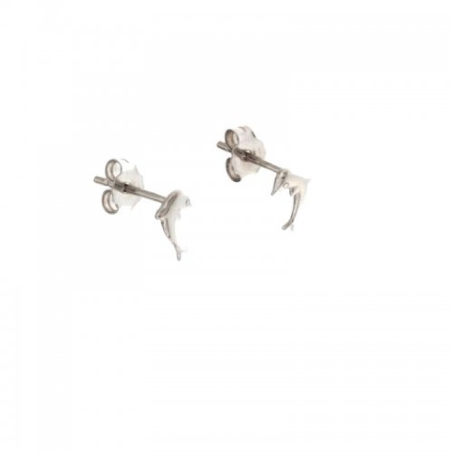 Dolphin White Gold Woman Earrings 803321730754