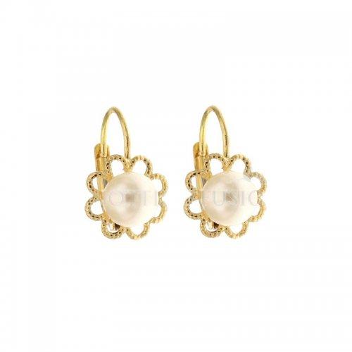 Pearl Woman Earrings in Yellow Gold 803321715895