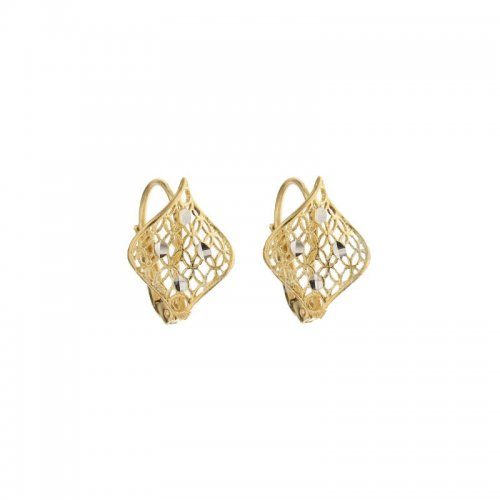 Woman Earrings in Yellow and White Gold 803321734595