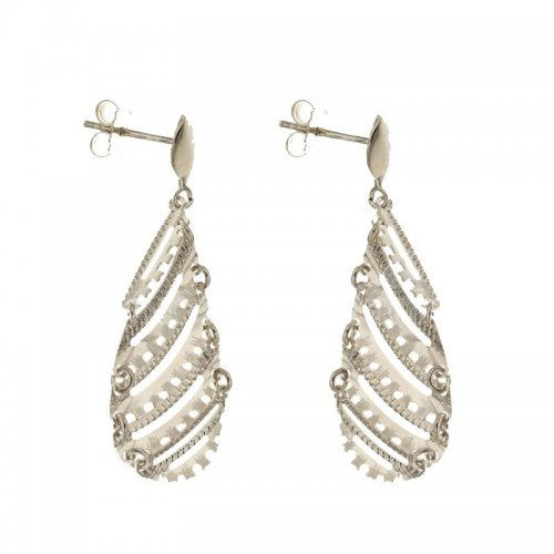 Women's Long Earrings in White Gold 803321736179