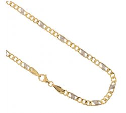 Yellow and White Gold Men's Necklace 803321700279
