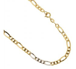 Yellow and White Gold Men's Necklace 803321700241