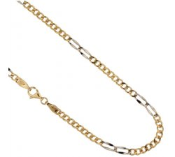 Yellow and White Gold Men's Necklace 803321717452