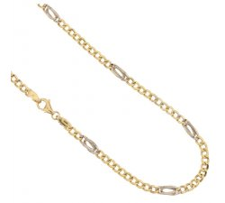 Yellow and White Gold Men's Necklace 803321717661