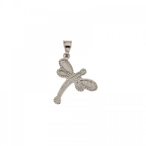 Dragonfly pendant white gold 803321728543