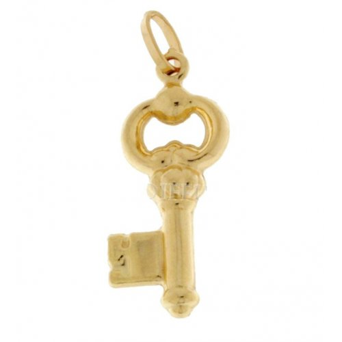 Yellow gold key pendant 803321702066