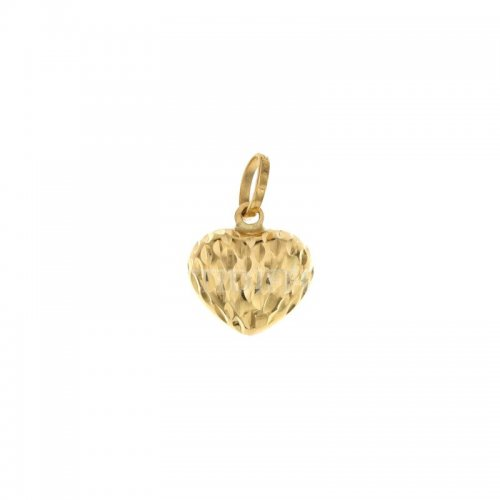 Yellow gold heart pendant 803321730702