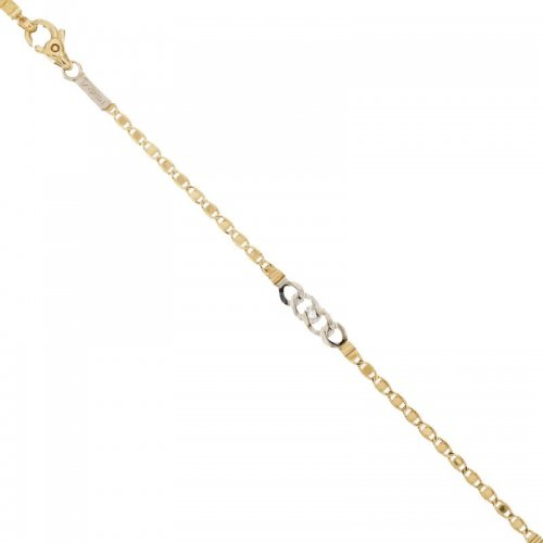 Men's Bracelet in Yellow and White Gold 803321735595