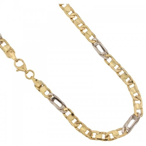 Yellow and White Gold Men's Necklace 803321711377