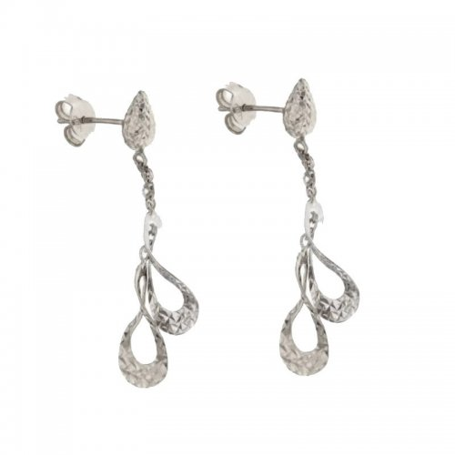 Women's Long Earrings in White Gold 803321724319